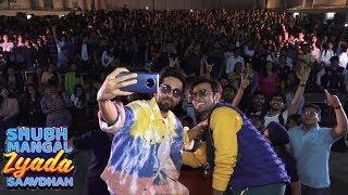 Ayushmann Khurrana & Jitendra Kumar Promote Movie Shubh Mangal Zyada Saavdhan At Bhavan's College