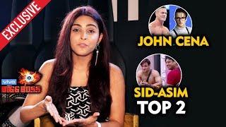 Madhurima Tuli Reaction On John Cena Supporting Asim   TOP 2   Sidharth   Bigg Boss 13