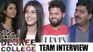 Degree College Movie Team Interview | Varun | Divya Rao | Narasimha Naidu