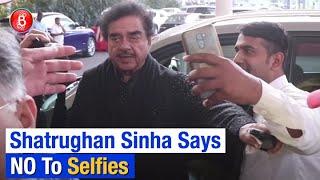 Shatrughan Sinha REFUSES To Give Selfies At Mumbai Airport To Fans | Khamosh