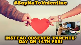 #SayNoToValentine: Hindu Outfit Wants Youth To Obsever 'Parents' Day On 14th Feb!