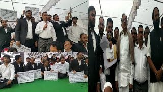 Advocates Protest Against NRC CAA At Dharna Chowk Hyderabad | @ SACH NEWS |