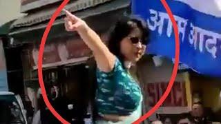 APP - BJP Live Fight During Roadshow | APP candidate Preeti Tomar loses temper | Delhi Election 2020