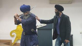 Sanatan Shastra Vidya Expert Shri Guru Nidar Singh Nihang  with Shri Ravi Ranjan Singh