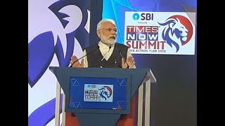 PM Narendra Modi addresses Times Now Summit 2020
