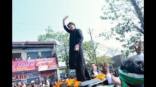 Smt. Priyanka Gandhi Vadra addresses a gathering in Azamgarh, Uttar Pradesh