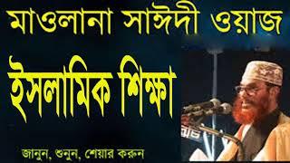 ইসলামিক শিক্ষার গুরুত্ব । আল্লামা সাঈদীর সেরা বাংলা ওয়াজ মাহফিল । Bangla Islamic Mahfil By Saidi