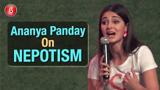 Ananya Panday Speaks Up On Nepotism At An Event