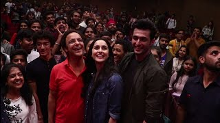 Shikara Movie Cast Aadil Khan, Sadia & Vidhi Vinod Chopra Visit National College