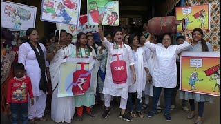 WATCH: Mahila Congress protests against LPG price hike