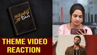 Solo Brathuke So Better Theme Video Reaction   Sai Tej   Nabha Natesh   Subbu   Thaman S   SVCC