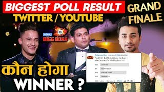 Bigg Boss 13 Grand Finale | BIGGEST POLL RESULT Twitter And Youtube | Sidharth Vs Asim | BB 13