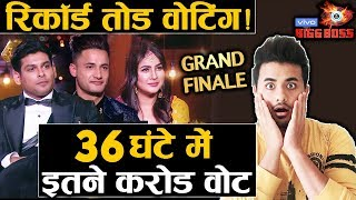 Bigg Boss 13 Grand Finale | RECORD BREAKING Votes History Created In 36 Hr | Sidharth, Asim, Shehnaz