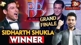 Sidharth Shukla Declared WINNER Of Bigg Boss 13 | BB 13 Grand Finale