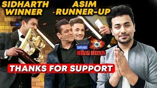 Bigg Boss 13 FINAL REVIEW | Sidharth Shukla WINNER & Asim Riaz Runner-Up | BB 13