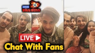 Asim Riaz FIRST LIVE CHAT With Fans | Asim Squad | Aleeza, Umar | Bigg Boss 13