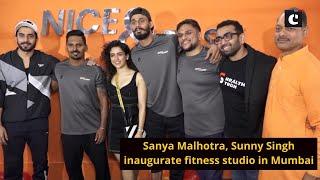 Sanya Malhotra, Sunny Singh inaugurate fitness studio in Mumbai