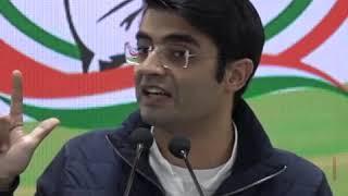 Jaiveer Shergill addresses media at Congress HQ on Mystery of Bharat Ke Veer Fund