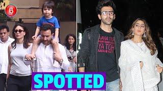 Kartik Aaryan, Sara Ali Khan, Kareena Kapoor, Saif & Taimur Spotted In B-Town