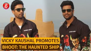 Vicky Kaushal Visits the Sand Ship at Juhu Beach | Bhoot: The Haunted Ship Promotions