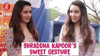 Shraddha Kapoor's Sweet Gesture Towards Dog | Baaghi 3 Promotions