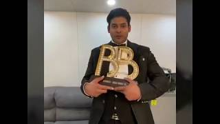 Bigg Boss 13 Winner Sidharth Shukla Special Message For Fans