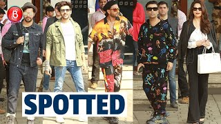 Kartik Aaryan, Ranveer Singh, Varun Dhawan, Karan Johar, Madhuri Dixit Rock The Airport Look