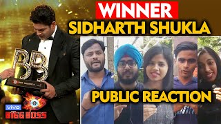 Bigg Boss 13 WINNER Sidharth Shukla | PUBLIC REACTION | BB 13