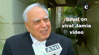 Police is meant to protect, not attack people: Sibal on viral Jamia video