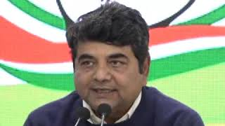 AICC Press Briefing by RPN Singh at Congress HQ on JVM Merger With Congress