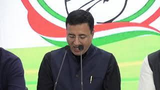 Randeep Singh Surjewala addresses media at Congress HQ on Supreme Court's Decision On Women Officers