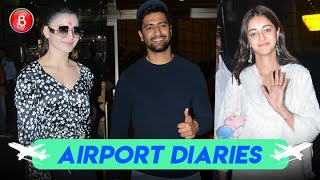 Vicky Kaushal, Urvashi Rautela, Ananya Panday Rock The Airport Look With Panche
