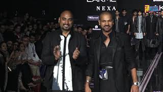 Shikhar Dhawan Slays at Lakme 2020 in Samanth Chauhan ensemble