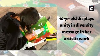 10-yr-old displays unity in diversity message in her artistic work