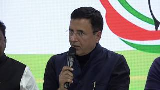 Randeep Singh Surjewala addresses media on Mohan Bhagwat Statement