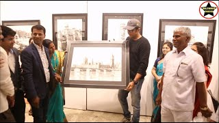 Ajinkya Deo inaugurated Art Exhibition Monuments of India by artist Prakash Borude