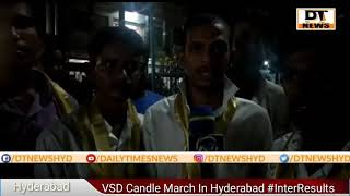 Candle March  For Intermediate Student's Who Committed Suicide
