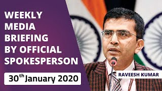 Weekly Media Briefing by Official Spokesperson (January 30, 2020)