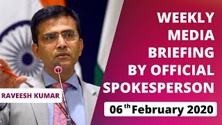Weekly Briefing by Official Spokesperson (February 6, 2020)