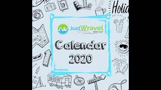 Travel Calendar 2020 JustWravel | WravelerForLife | Travel Community