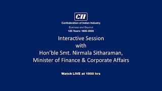Interactive Session with Hon'ble Smt. Nirmala Sitharaman
