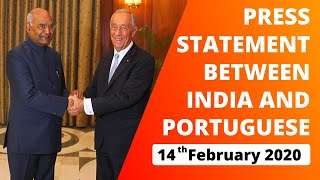 Press Statement between India and Portuguese (February 14, 2020)