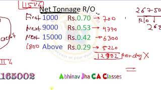 CA Final  DT May/Nov 2020 Full Tonnage Tax || Abhinav Jha CA CS ||  DT AND IDT Videos ||