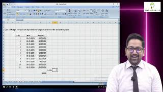 Learn to Calculate Return on Investment of Share, M.F., SIP & Insurance using IRR function of Excel