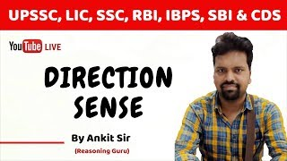 Direction Sense by Ankit Sir | Useful for Bank, SSC, UPSSSC, LIC, CDS & NDA Exam