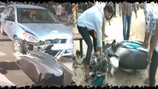 HYDERABAD ACCIDENT NEWS // Green Bawarchi में घुसी CAR, एक की मौत