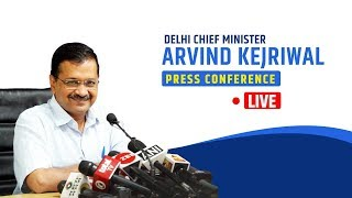 Delhi CM Arvind Kejriwal's first Important press conference after taking charge | LIVE