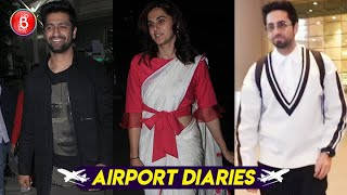 Ayushmann Khurrana, Taapsee Pannu, Vicky Kaushal Flaunt Their Fab Looks At The Airport