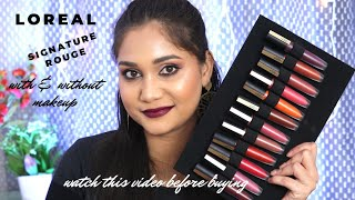 L'oreal Signature Rouge Sunset Collection | Swatches & Honest Reviews | Nidhi Katiyar