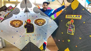 World's Biggest kites(7foot) Cheapest Market  | Sidhu moosewala kites ????